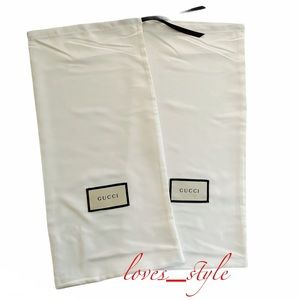 GUCCI 2pc SATIN DUST BAGS